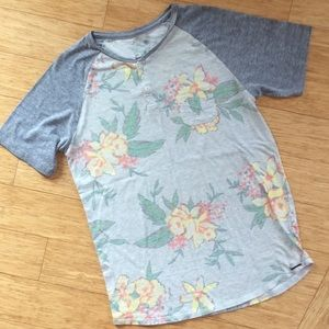 On The Byas Mens Floral T-shirt